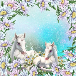 General Birthday UNICORNS fantasy personalised online greeting card