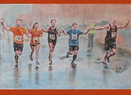 General Run, race, marathon, achieve, together, supporting, people, for-him. for-her, personalised online greeting card