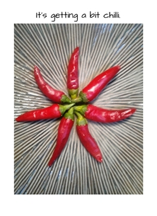 General winter vegetables cooking peppers hot for-him for-her personalised online greeting card