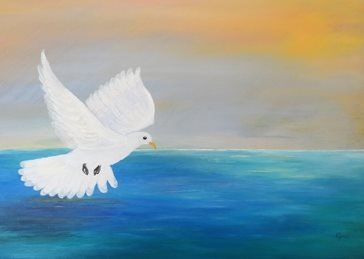 art Peace, Dove, Holy Spirit, Christian artist, God, Christianity, spirituality, Easter, Christmas, lady, mums, dads, biblical, Genesis, mothers, fathers, sons, daughters personalised online greeting card