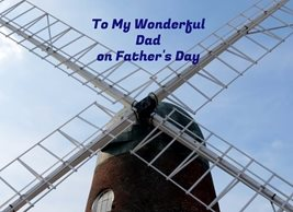 Debbie Daylights Father's Day Windmill Fathers dad  Dad windmill for-him personalised online greeting card