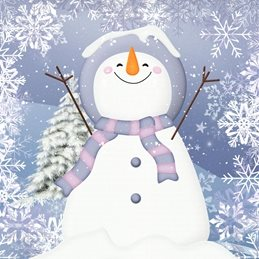 Christmas  greeting cards by Little Bird Greetings Cards  snowman celebrate family friends Its Snowing