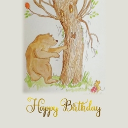Childrens/ boy/ girl personalised online greeting card
