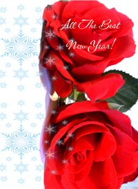 Christmas Roses flowers snow z%a personalised online greeting card