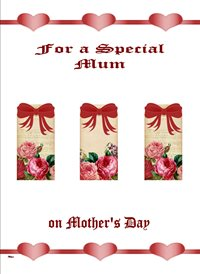 Mothers Flowers Hearts Bows Pink Red Happy   z%a personalised online greeting card