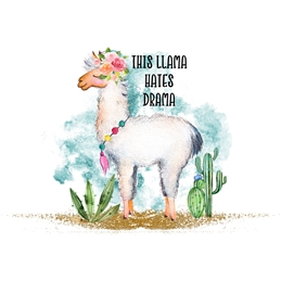 General Llama, Animal, Humorous, For-Him, For her, Birthday, Thanks,  personalised online greeting card