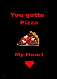 General Pizza heart  personalised online greeting card