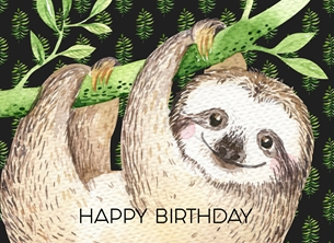 Birthday Sloth, For-Him, For-Her, Animal, Wild Life, Cute