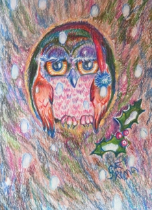 Little Liz Happy Art Mytree the owl personalised online greeting card