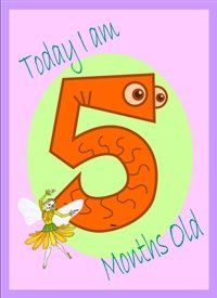 Birthday Colourful 5 with fairy  personalised online greeting card