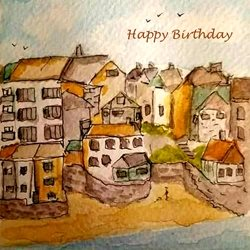 Birthday   sea coast z%a personalised online greeting card