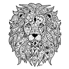 art lion, wild, animal, africa, drawing personalised online greeting card