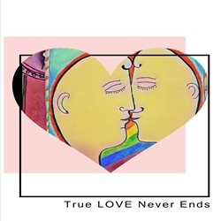 ROSA MARIA CARDS TRUE LOVE NEVER ENDS General personalised online greeting card
