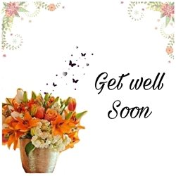 Get Well Ill , get well , flowers , injury , friends ,family  personalised online greeting card
