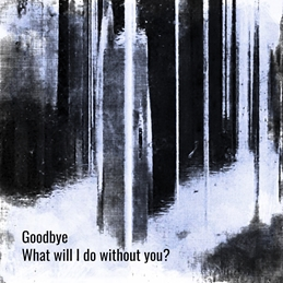 Sympathy goodbye words missing ending for-him  grey black monochrome abstract photograph sympathy grief bleak stripes sombre sadness condolences dark personalised online greeting card