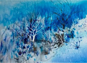 Sheila O'Brien Artwork The white tree art Trees personalised online greeting card