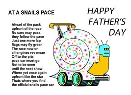 fathers snails animals personalised online greeting card