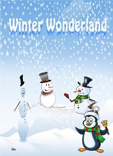 Christmas Snowmen Penguin snow winter for-children unisex Wholesale personalised online greeting card