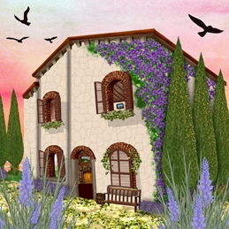 Tuscan Villa General/Notelet Card