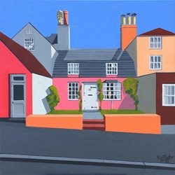 Artist Wivenhoe, Essex, Fishing Village, High Street, House, Artist, Modern Realism personalised online greeting card