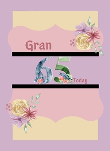Her Nibs  65th Gran Bird Cage,Age 65 personalised online greeting card