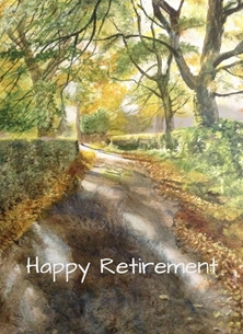 Retirement  greeting cards by Wildart retirement Autumn