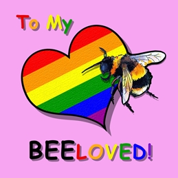 Rainbow beloved bee card #3