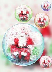 Christmas Santa balls z%a personalised online greeting card