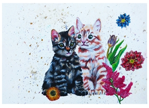 Ragdollcookie Kittens and Flowers kitten