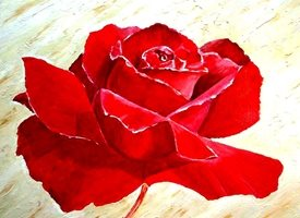 General artwork rose flower love Valentine for-her personalised online greeting card