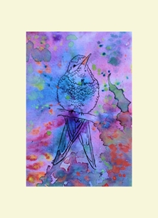 art Bird Animal personalised online greeting card