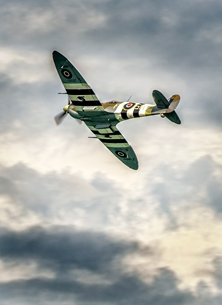 photography spitfire, RAF, aeroplane, airplane, plane, aircraft, aviation personalised online greeting card