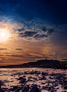 NorthLight Photo-Art Scrabo Evening photography andbc, sunset, evening, sky, sea, shore, coast, mountain, strangford, lough, Newtownards, Scrabo Tower, Ards Peninsula,  inspiration, happy, joy, optimistic, peaceful, tranquil, serene, warm, sympathy, dramatic,  personalised online greeting card