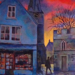 art Malmesbury Birdcage Walk fine art painting personalised online greeting card