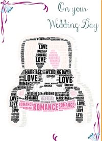 Wedding wedding car romance love bride groom  personalised online greeting card