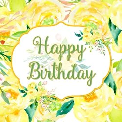 Birthday Yellow, Roses, Flowers personalised online greeting card