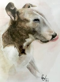 Art Dog, English Bull Terrier, Everyday, General personalised online greeting card
