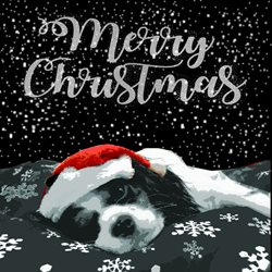 Lizzy'sCardsLTD Christmas puppy 1 Christmas dogs animals  z%a personalised online greeting card