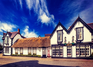 Photography andbc, Bangor, Crawfordsburn, inn, hotel, pub, historic, thatched, cottage personalised online greeting card