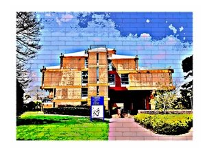 general UoR University Reading URS building campus personalised online greeting card