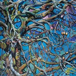Stained Glass Trees: Spring light