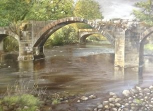 Wildart Cromwells bridge Art country personalised online greeting card