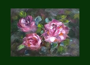 art flowers,abstract,roses personalised online greeting card
