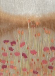 General Artistic painting  dreamy landscape cornfields summers day flower meadow personalised online greeting card