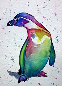 art artwork penguin birds wildlife for-her for-him personalised online greeting card