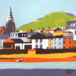 Art ilfracombe devon painting by alan taylor poster art personalised online greeting card