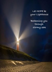 General Lighthouse and Quote  personalised online greeting card