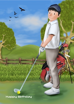 BIRTHDAY golf personalised online greeting card