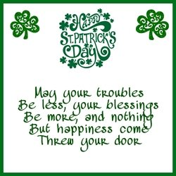St Patricks Irish , green , celebration  personalised online greeting card