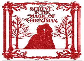 Lizzy'sCardsLTD Believe In The Magic Of Christmas (red) Christmas couple z%a personalised online greeting card